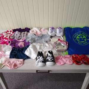 Lot of Build a Bear Clothes and Accessories
